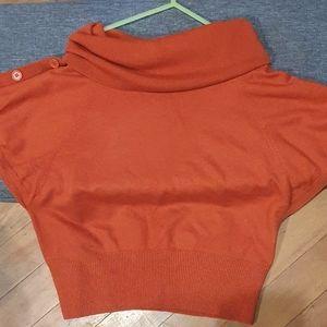 Size L Yvonne Black orange knit short sleeve top